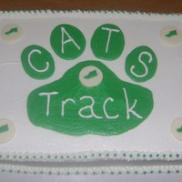 Bobcat Track Team Cake Track Team Party Cake