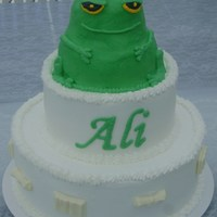 Frog Graduation Cake For a graduate who loves frogs.