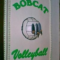 Green Bobcats Volleyball Cake