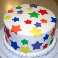 Fondant Stars Needed a quick cake for daycare.