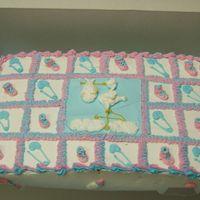 Baby Shower Cake This is a cake that I made in one of my decorating classes