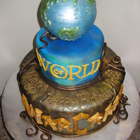 "World Of Warcraft The top tier of this cake is hallow chocolate. The ""scales"" are airbrushed. I was asked to make a World of Warcraft cake for a..."