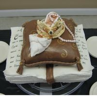 Storybook Wedding   bridal shower cake for a princess