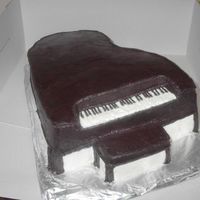 Grand Piano all buttercream - much inspiration from others on this site - thanks!