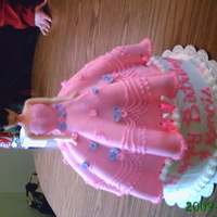 Doll Cake   rhis was my first doll cake. Granddaughter loved it