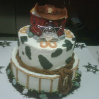 Cow Boy Birthday Cake This cake was done for a 2 year old..Cowboy theme