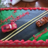 Cars Cake a birthday cake for a lil boy