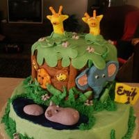 Baby Jungle Cake First Birthday cake, Jungle themed. Inspired by aldoska, Thanks for the inspiration cake!