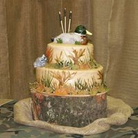 Groom Cake, Duck Hunting, Rca, Louisiana, Camouflage This is my son's groom's cake from this past weekend. He's an avid duck hunter, he loves raccoons (RCA is a Louisiana Thing...