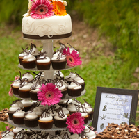 Cupcake Tower Wedding  This was a day wedding, very simple but really cute.the cupcake flavors were: Chocolate with moka fillingChocolate with mango Vanilla with...