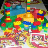 Lego Cake (2Nd Upload) This was for my son's best friend's 8th birthday. I made a sheet cake and cut and stacked them then placed cupcakes on top to...