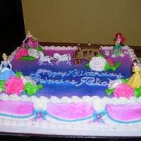 Disney Princess's   chocalate cake with buttercream frosting
