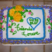Friends Forever Made this cake while Barbara was visiting me. We had a great time and everyone enjoyed the results a Almond Butter cake with Creamcheese...
