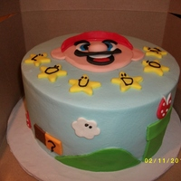 Mario Cake   buttercream with fondant details