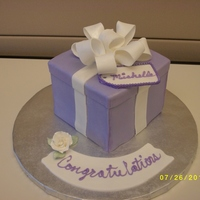 Present Cake   Present cake I did for a bridal shower at work.