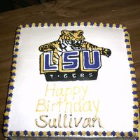 Lsu Tiger Cake LSU Tiger Cake- FBCTI was realy scared doing this FBCT b/c it was so detailed, but it turned out ok.