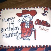 Ole Miss Rebels This is my second FBCT. I made this cake for my little brothers birthday.
