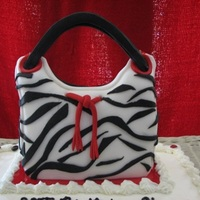 Zebra Striped Purse