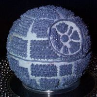 Death Star Cake I made this cake for my boyfriend for our pre-episode III Star Wars watching marathon. Made of strawberry cake and buttercream icing and...