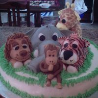 The Jungle Babies  This is a cake I did for a baby shower, The jungle babies was the theme of the baby room for the expecting couple. Every Bit of it is...