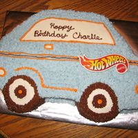 Hot Wheels This is a Hot Wheels cake for a boy's 3rd birthday.