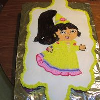 "Dora Princess Cupcake Cake Dora ""Princess"" cupcake cake for my Daughter's 5th Birthday. Thanks Lisa for your help."