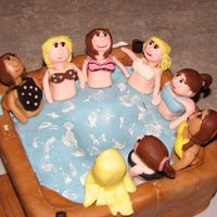 Hot Tub Cake My daughter had a hot tub party for her 14th birthday. This was also my first attempt at fondant people. My daughter and her friends loved...