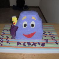 Backpack Backpack! Dora's BackPack for a friend's little girl on her 3rd birthday. This was a fun (if time consuming) cake to do. I used loaf pans...
