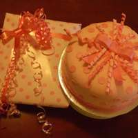 Pink Gift This pink cake is for a friend who had a baby, 11 years after her last child!