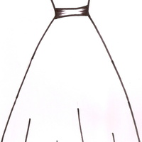 Wedding Dress Template   I drew this template at the request of CC user milknhoney. Thought it might be of use to someone else too.