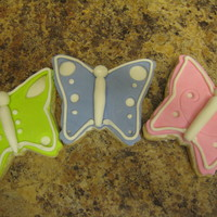 Butterfly Cookies Sugar cookies, fondant over buttercream