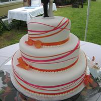 Brooke 8 x 12 x 16; Red Velvet/WASC, Fondex fondant. This was done for my niece's wedding. She sent me a picture of what she wanted. Traveled...