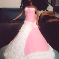 Barbie Cake Barbie cake with Fondant and buttercream dress.