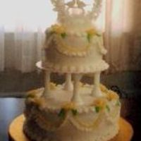 Small Wedding Cake This was my first wedding cake! I wish the picture was a little better. A friend called me on a Friday night and needed the cake for that...