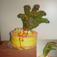 Killer Cake!! BEWARE!!...lol This cake will bite back at ya!! I had a blast doing this!! A couple of firsts for me on this cake... It was the first time...