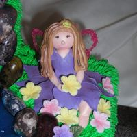 Suzanne's Fairy gumpaste fairy and flowers