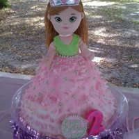 Doll Cake I used a 12, 10, 9 and 7 inch cake to make the skirt. I made ying yang shaped pieces with one side garrett frilled, for the skirt over 2...