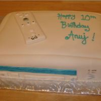 Wii Never really had much luck with findant. Only 2nd time covering a cake. I Found the idea on here after looking at a few cake. Chocolate/...
