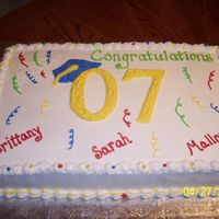 Graduation Cake All buttercream decorations. Got this idea from CC. Thanks!