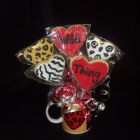 Wild Thing Bouquet NFS cookies for a fun twist on valentine's day