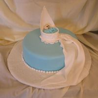 Fondant Course Final I loved the design of this cake and decided to do it for my final. I gave it to a friend who is about to have a baby boy.