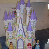 Princess Castle My daughters 4th birthday cake. I used the Wilton castle kit and it was a lot more work than I expected. Seeing the look on my daughters...