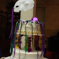 Mardi Gras 2007 I made this cake for my Wilton Course 3 final cake.