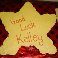 Good Luck Star This is a cupcake cake iced with no crust buttercream (recipe found here). Sprinkled with cake sparkles. Not my best work, but only took 30...
