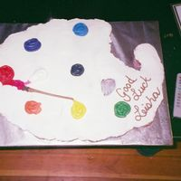 Paint Pallette Cupcake Cake I made this as a going away cake for someone at work...she's a painter. Cupcakes were marble and all decorations are bc.