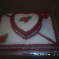 Valentine's Day Cake Made this for a friend on Valentine's Day last year. This along with about 8 other cakes for that day.