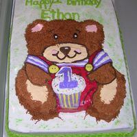 Bear Teddy Bear cake. They eyes are Dr Pepper Jelly Beans!
