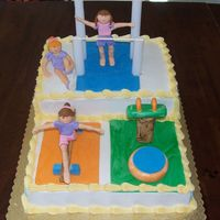 Gymnastics Theme Birthday GYMNASTICS CAKE IDEA COURTESY OF ALL THE WONDERFUL CAKES ON THIS SITE!