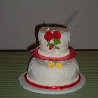 2 tiers in red