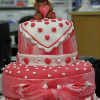 Sugar Bear, Front--Made At Wilton School Cakes For Catering on Cake Central